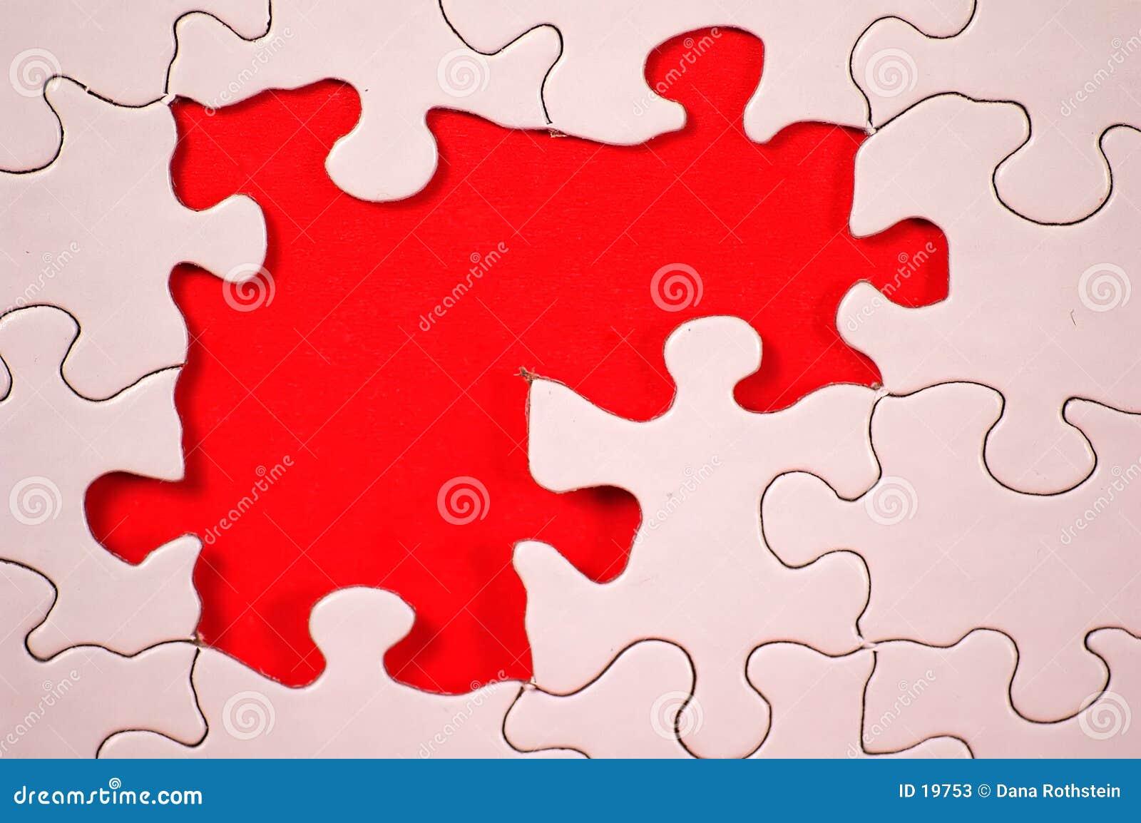 Puzzle avec le fond orange