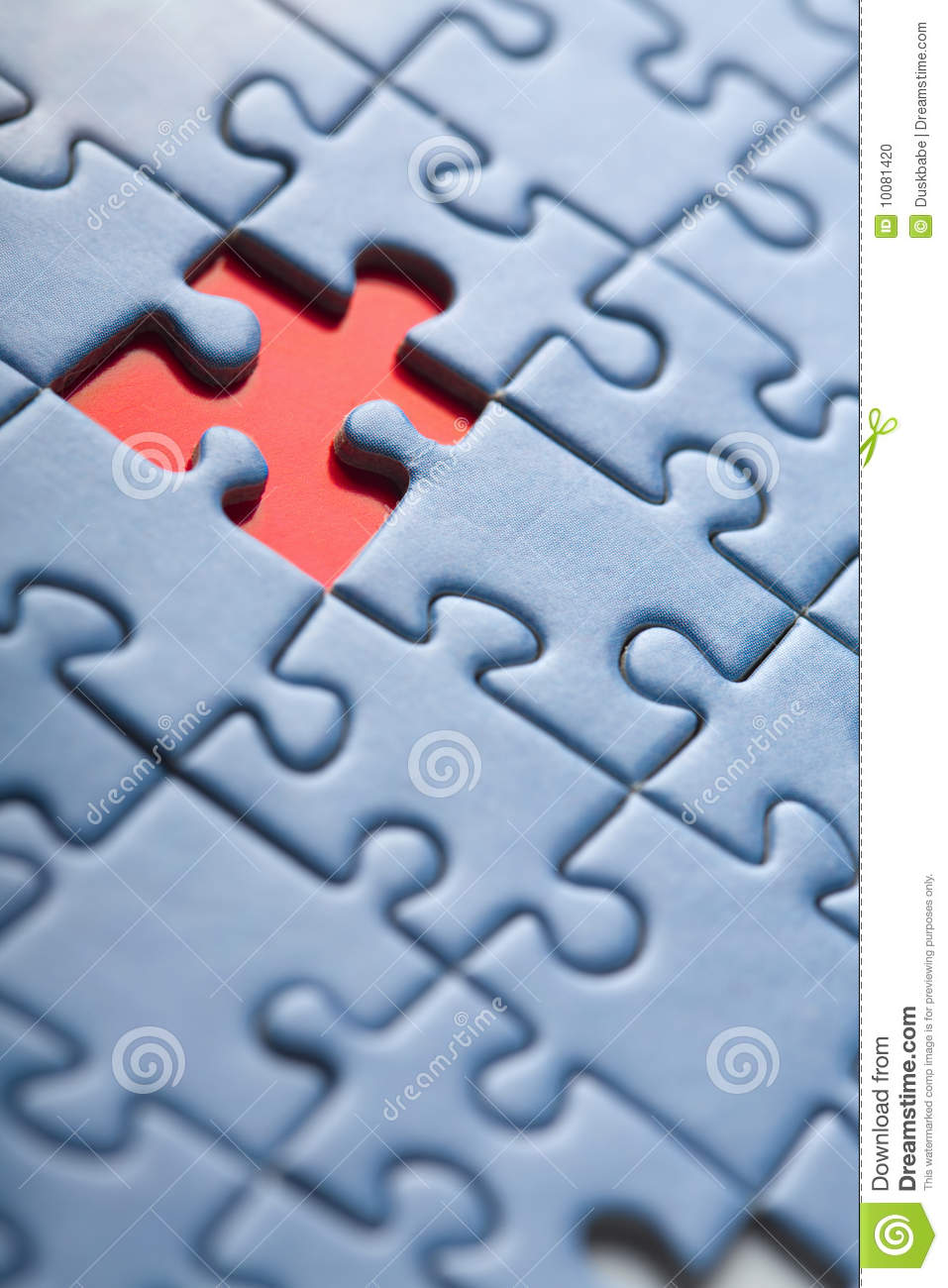 Puzzle Background With One Missing Piece Stock Photo ...