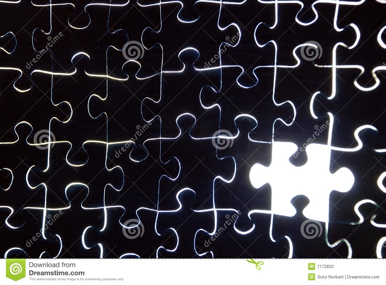 Puzzle Background With One Missing Piece Stock Photography ...