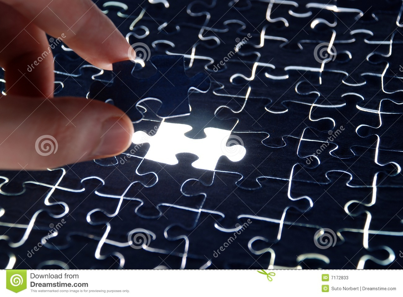 Puzzle Background With One Missing Piece Stock Photos ...