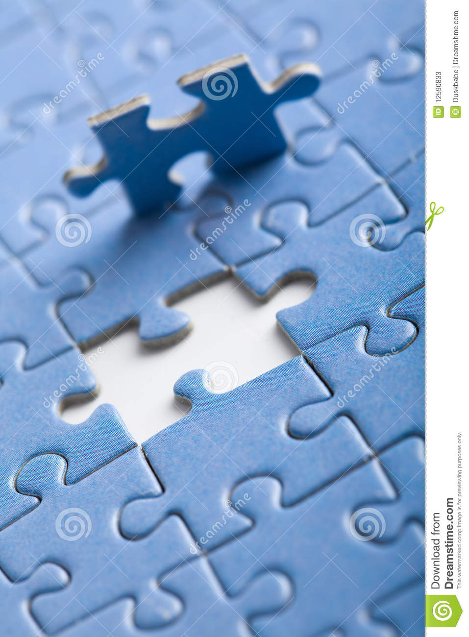 Puzzle Background With One Piece Missing Stock Photos ...