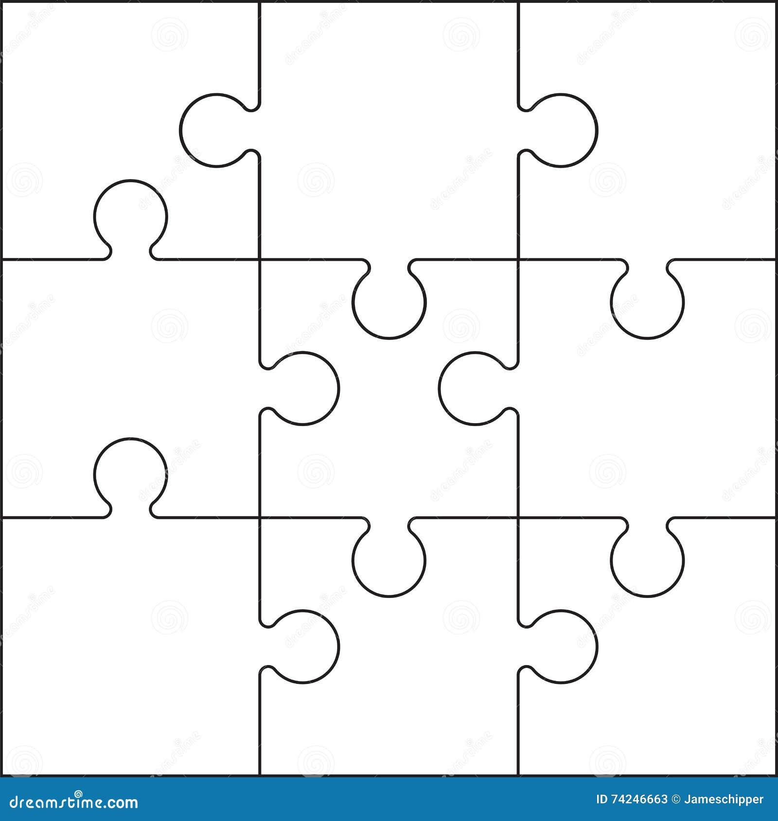 Puzzle bianco e nero illustrazione vettoriale - Collegamento stampabile un puzzle pix ...
