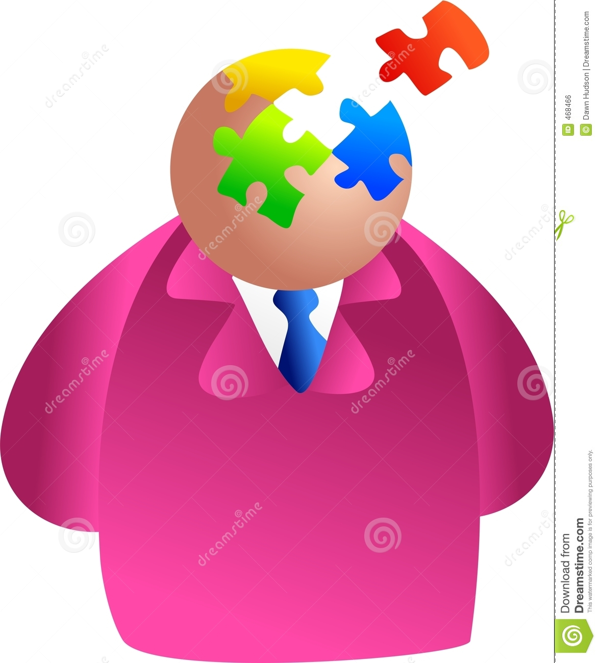 Download Puzzle brain stock illustration. Illustration of suits - 468466