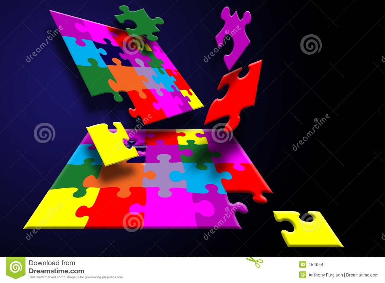 Download Puzzle breakout stock illustration. Illustration of more - 454064
