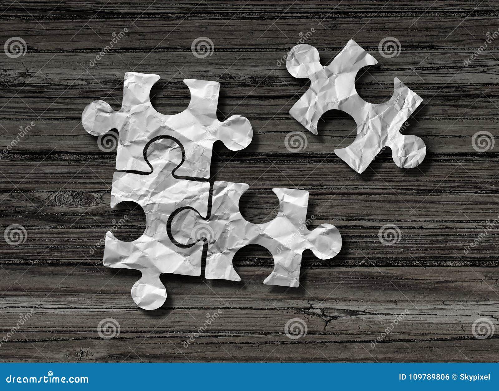Puzzle Business Solution Concept
