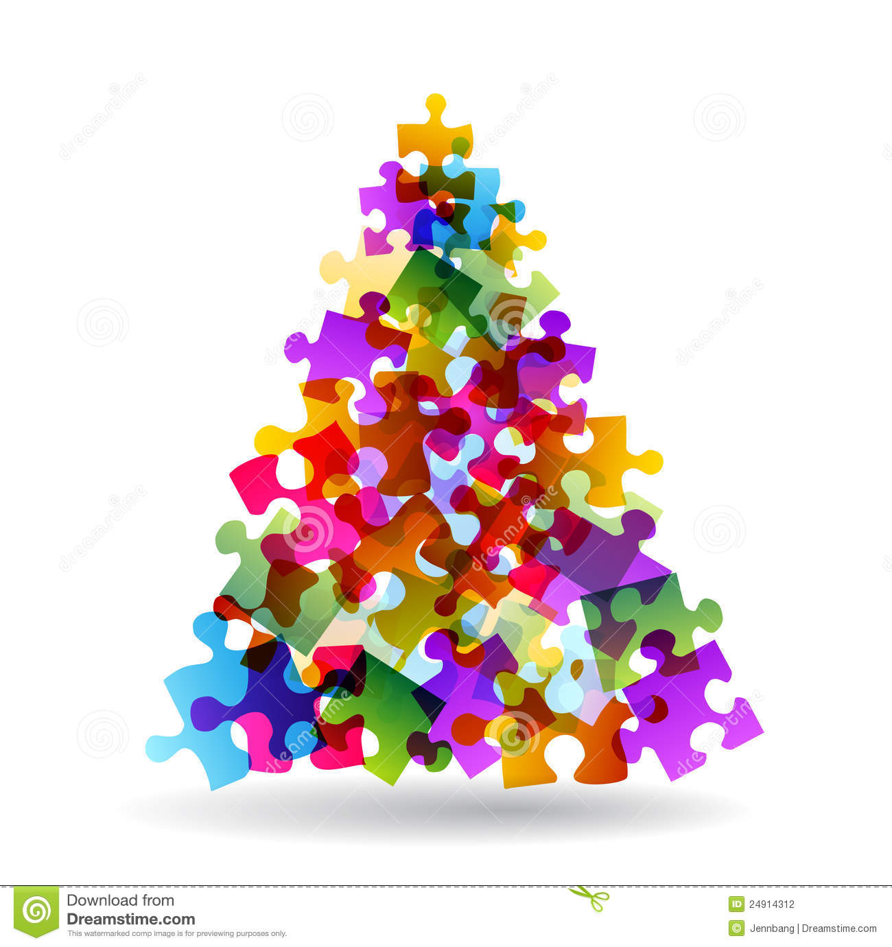 Marvelous Royalty Free Stock Photo. Download Puzzle Christmas Tree ...