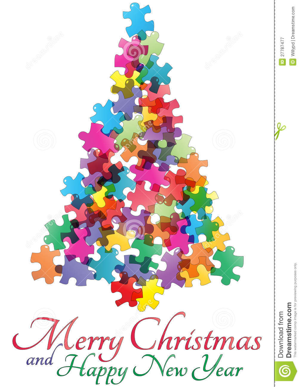 Puzzle christmas tree stock vector image of puzzle - Pinos de navidad ...