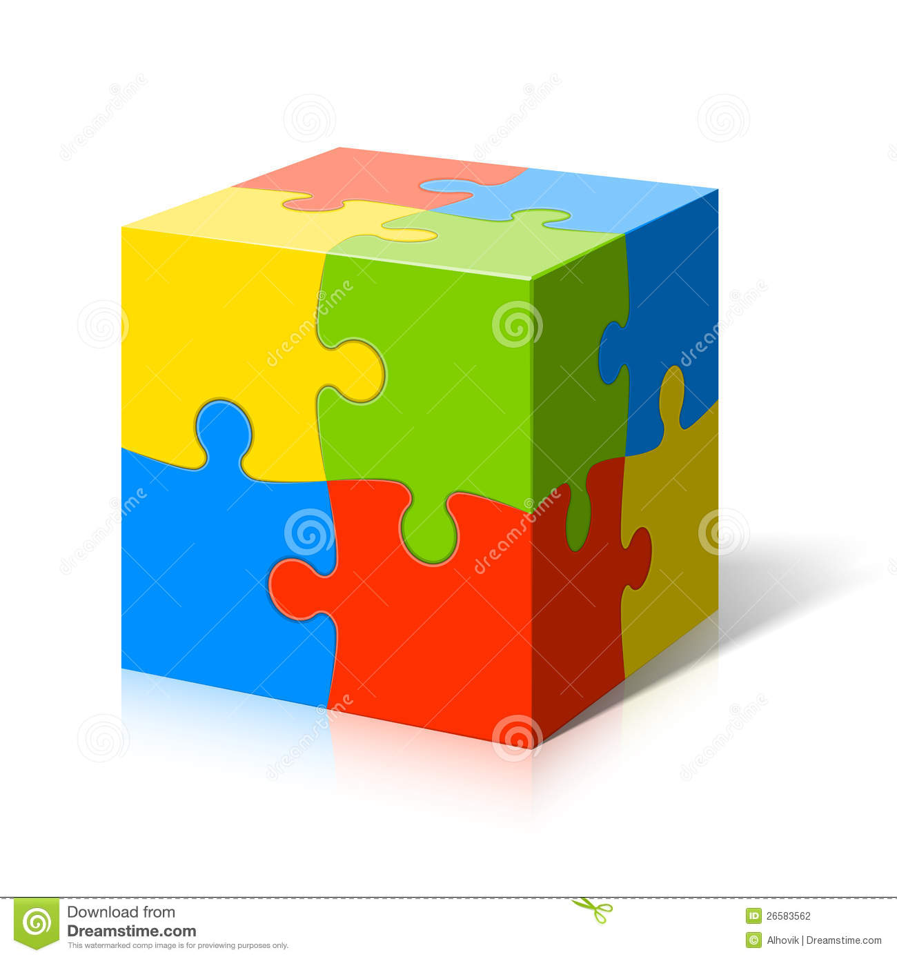 Puzzle Cube Stock Photography Image 26583562