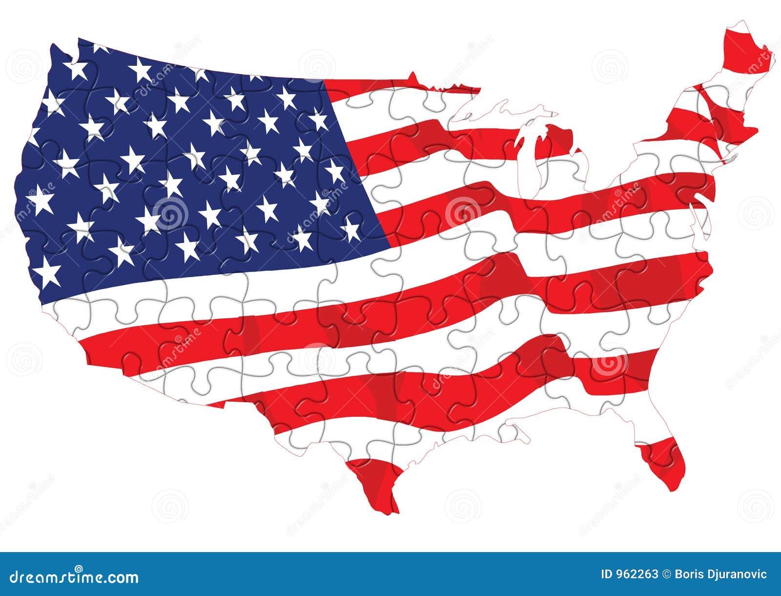 Puzzle d indicateur américain