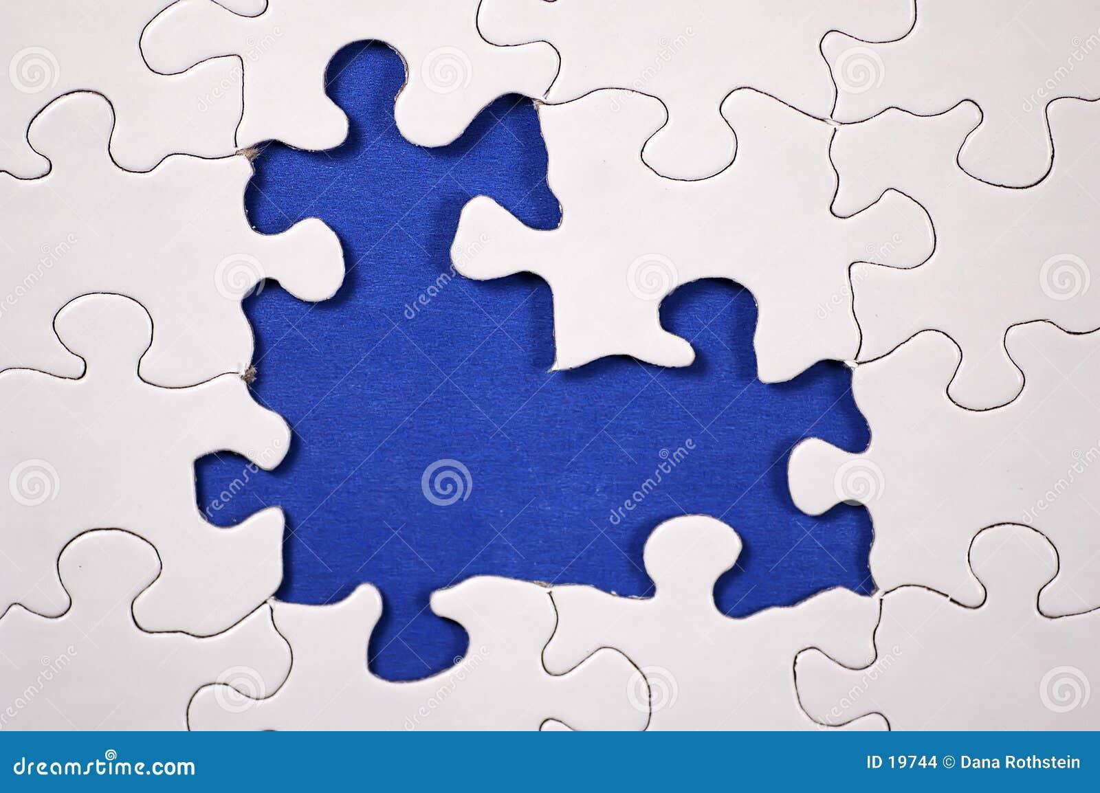 Puzzle With Dark Blue Background