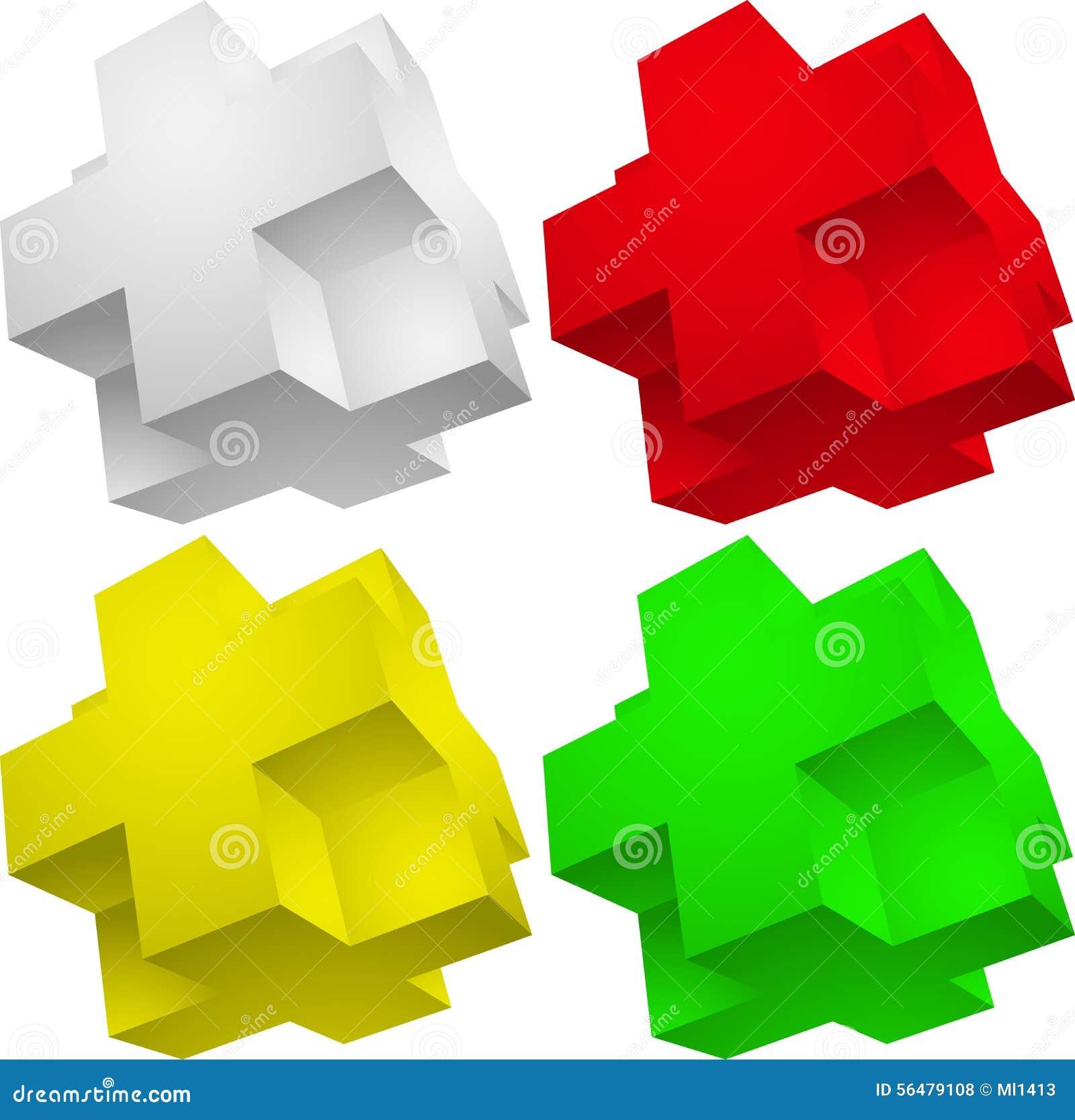 Puzzle de l élément 3d