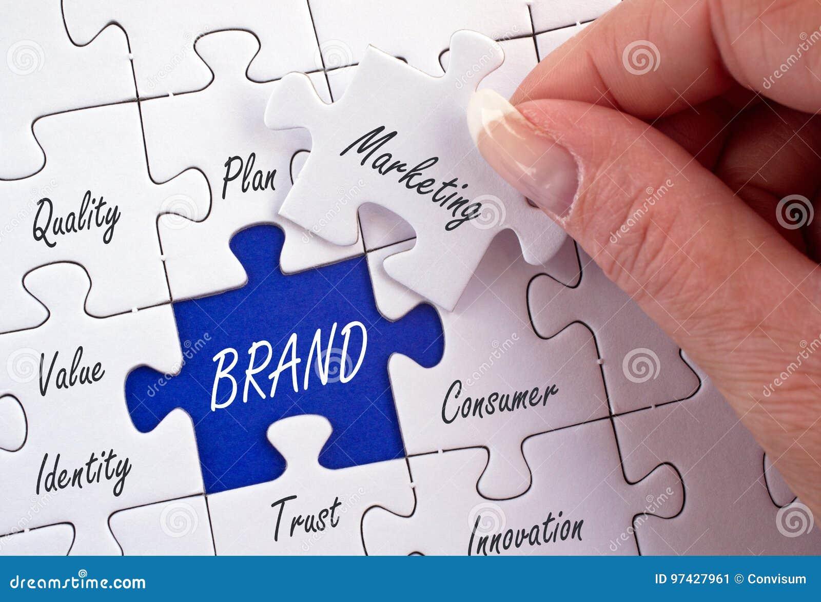 Puzzle de marketing de marque et d affaires