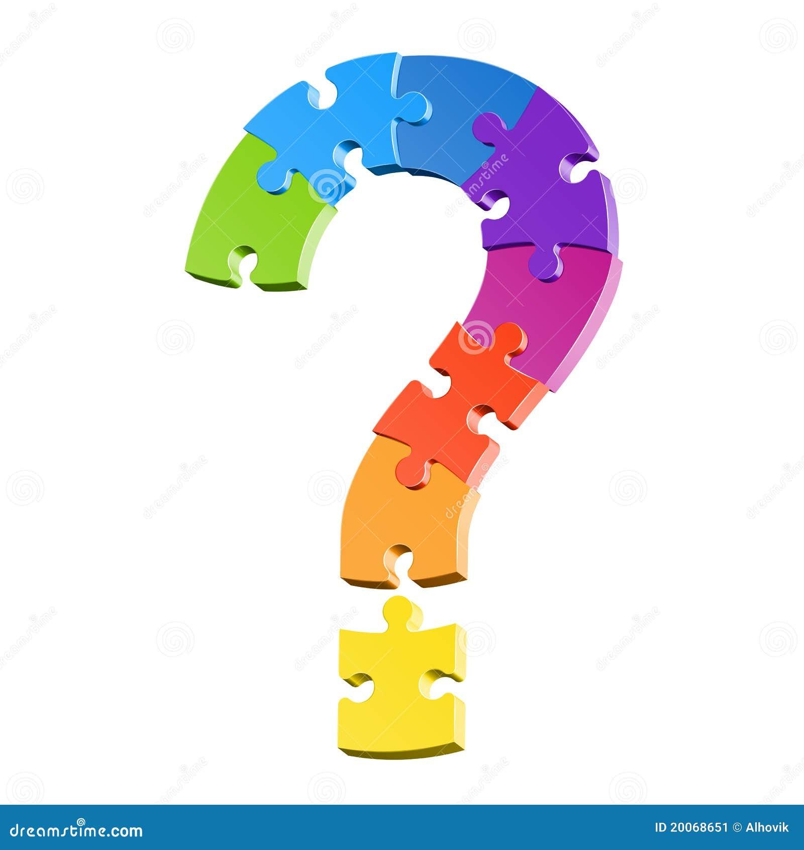 Puzzle del punto interrogativo immagine stock immagine - Collegamento stampabile un puzzle pix ...