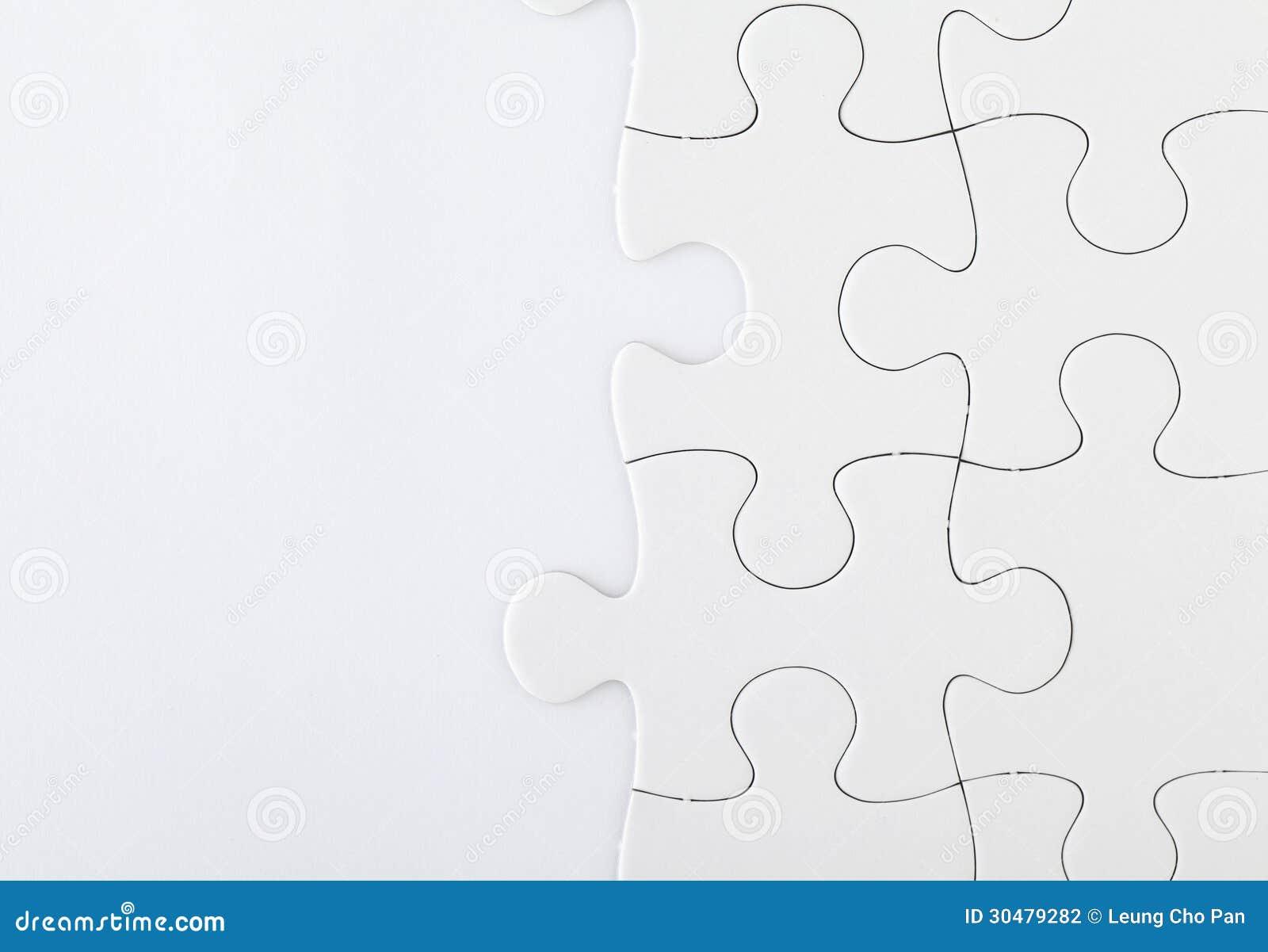 Puzzle denteux blanc