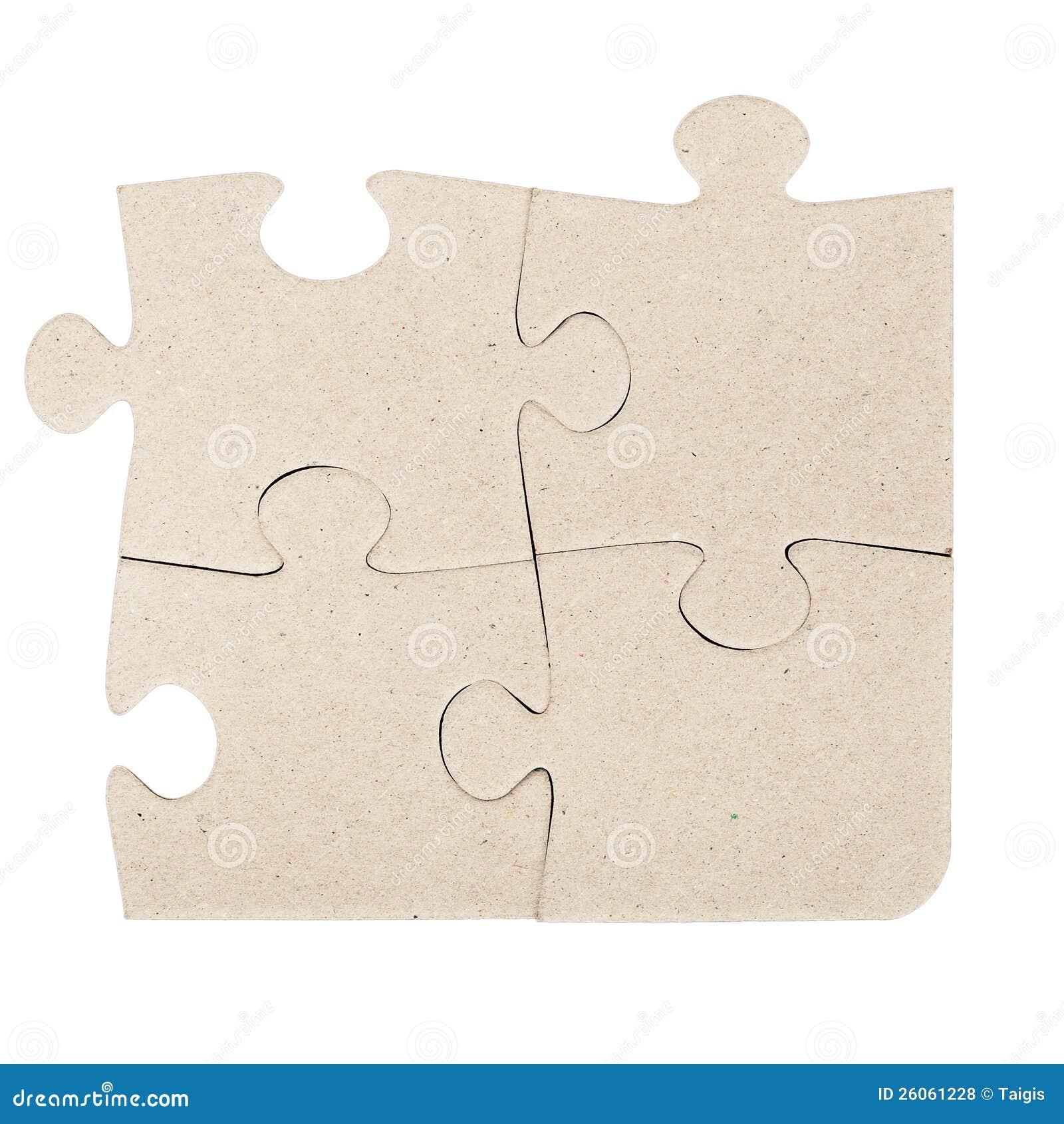 Puzzle denteux de carton gris