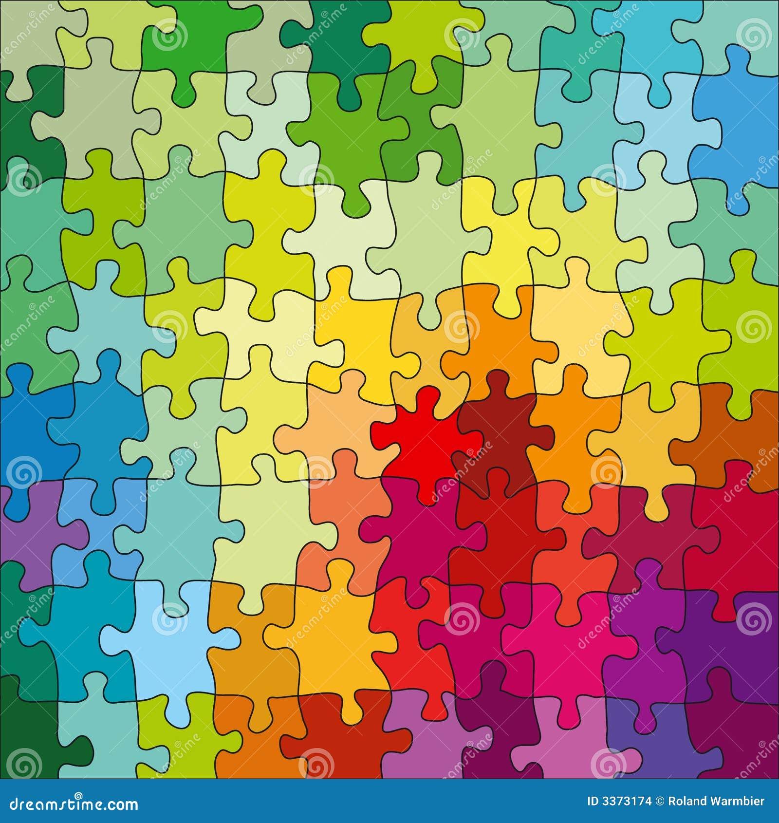 Puzzle di colore illustrazione vettoriale immagine di - Collegamento stampabile un puzzle pix ...