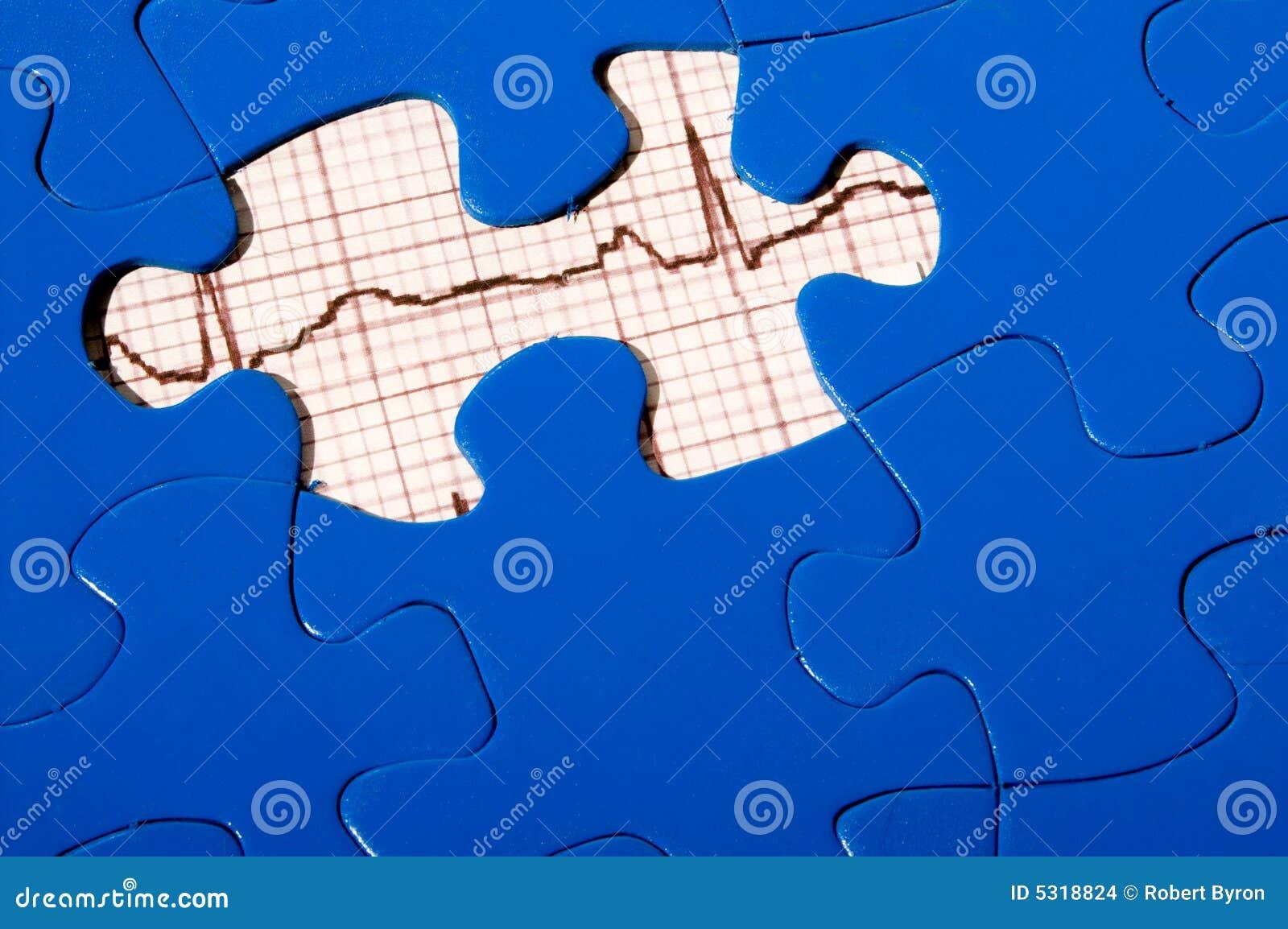 Download Puzzle di EKG fotografia stock. Immagine di idoneità, grafico - 5318824