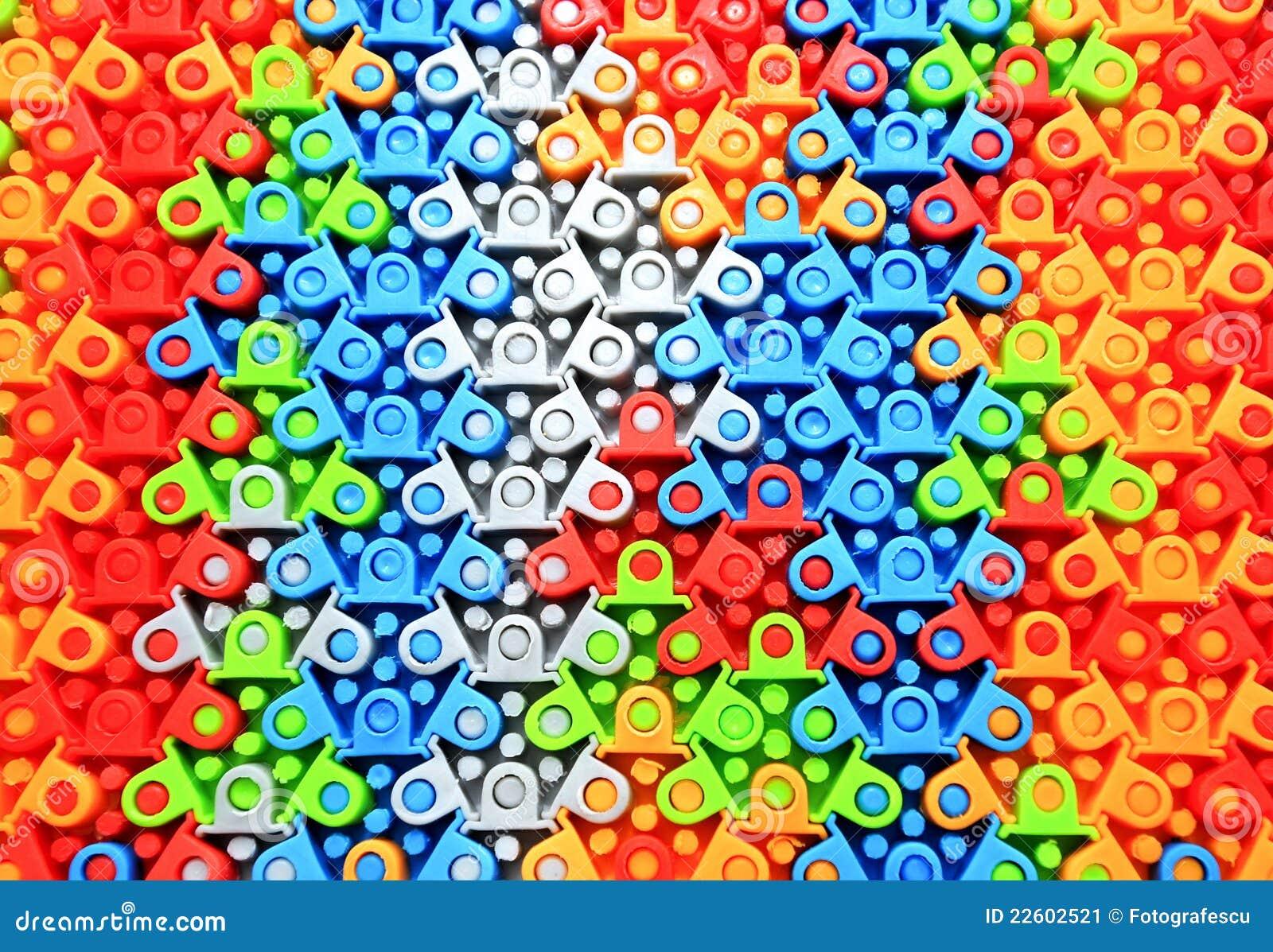 Puzzle di gomma colorato