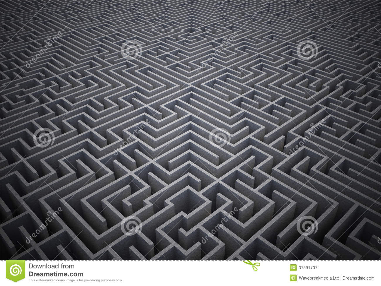 Puzzle difficile de labyrinthe illustration stock - Labyrinthe difficile ...