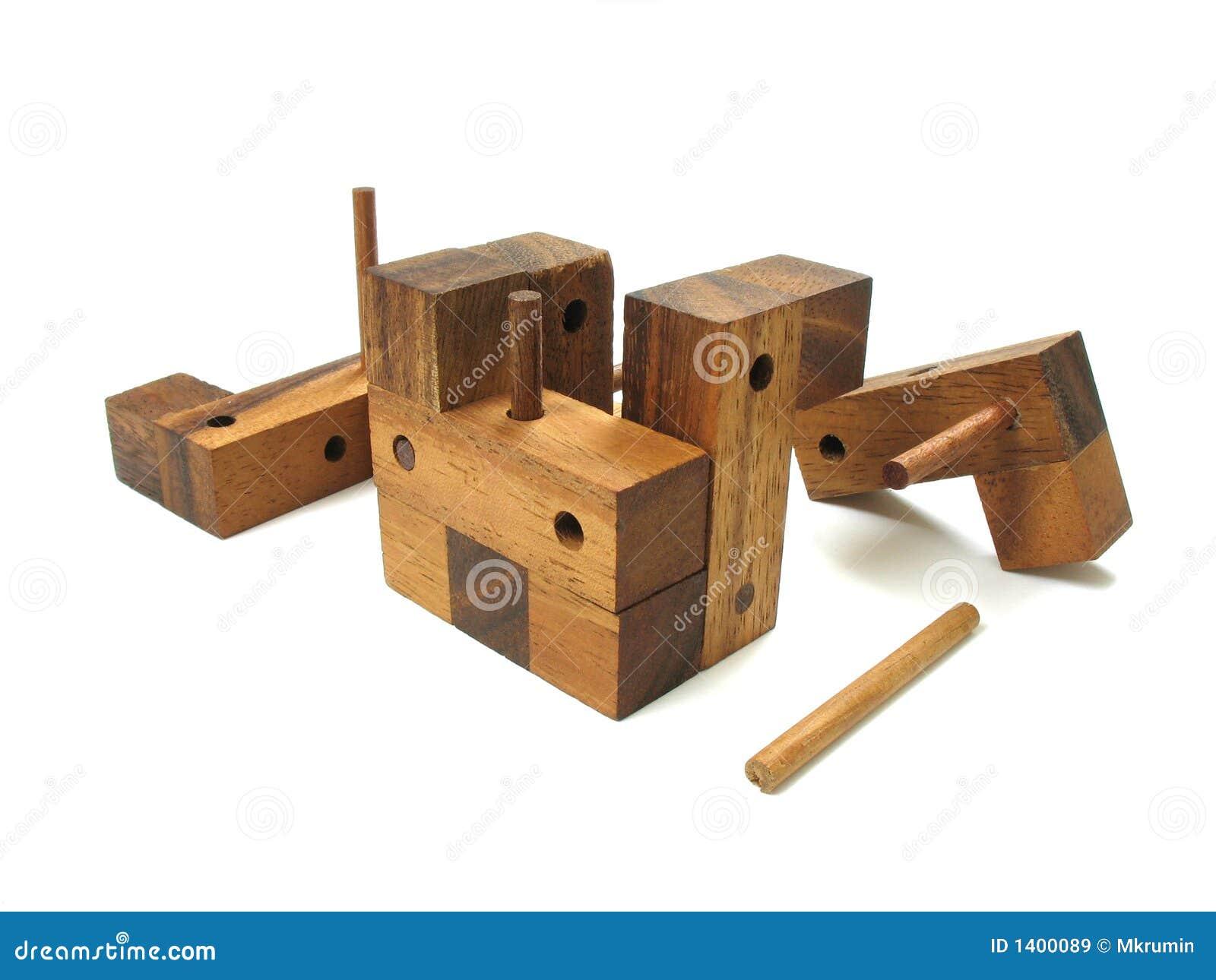 Puzzle en bois de cube en puzzle