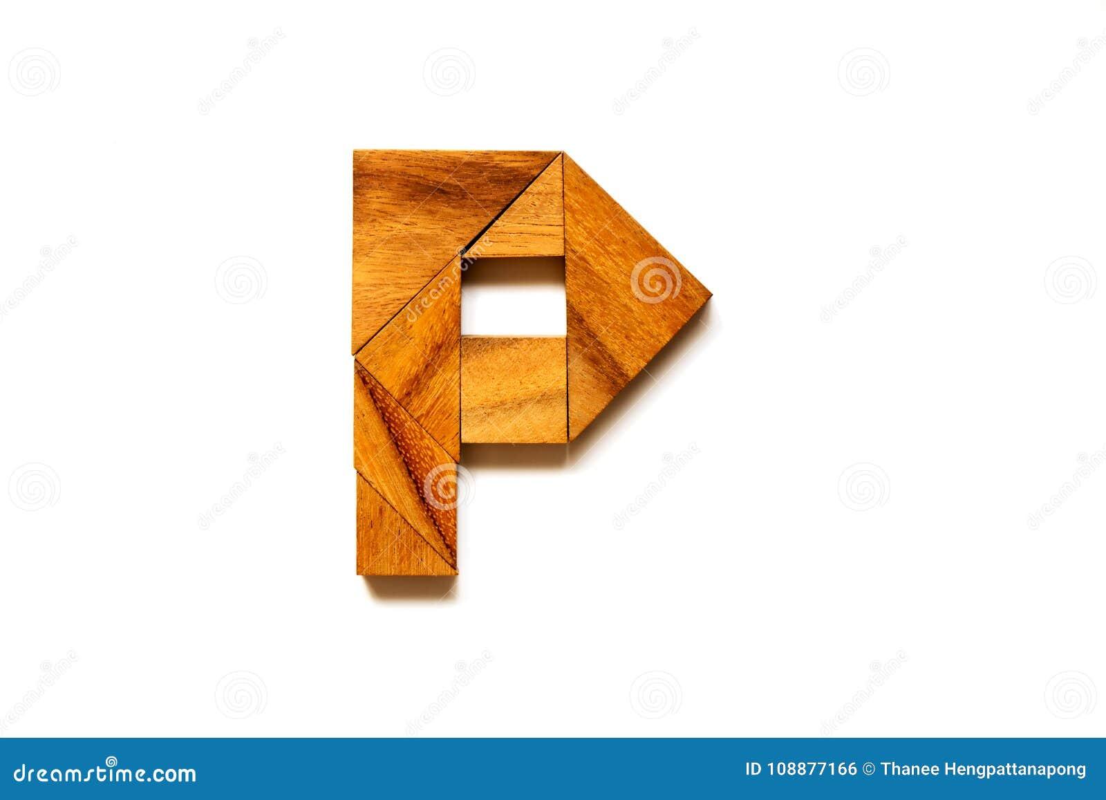 Puzzle En Bois De Tangram En Tant Que La Lettre D Alphabet Anglais