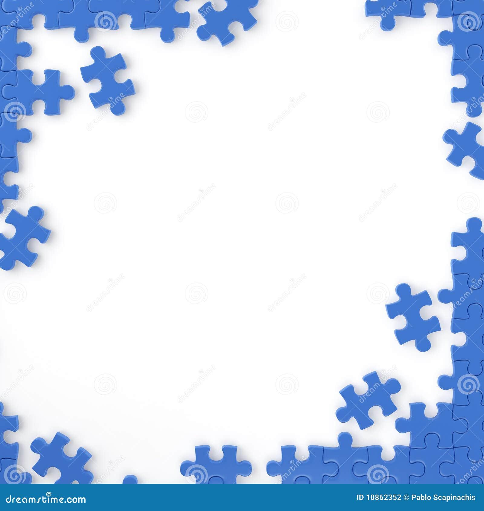 Puzzle frame stock illustration. Illustration of join - 10862352