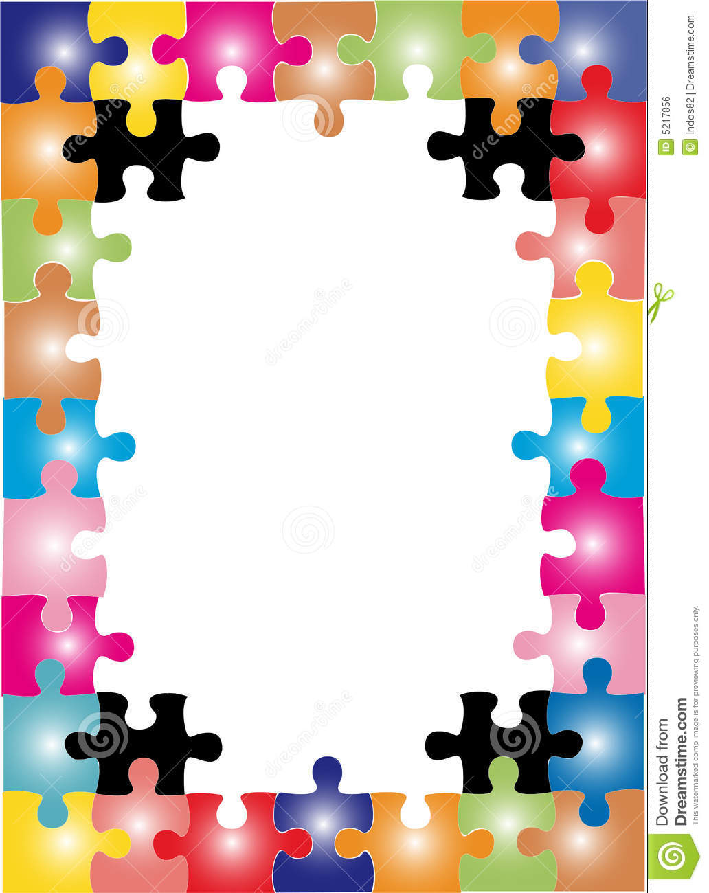 Puzzle frame stock vector. Illustration of connect, entertainment ...