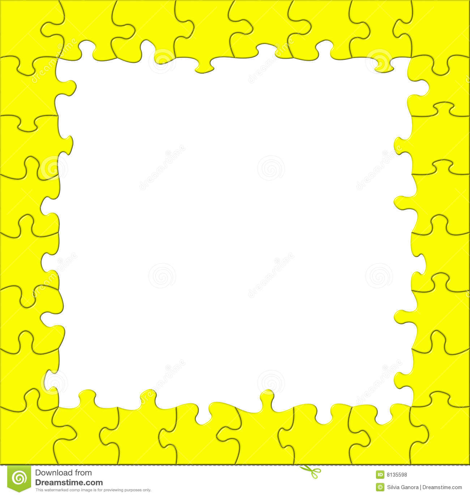 Puzzle frame stock illustration. Illustration of isolated - 8135598