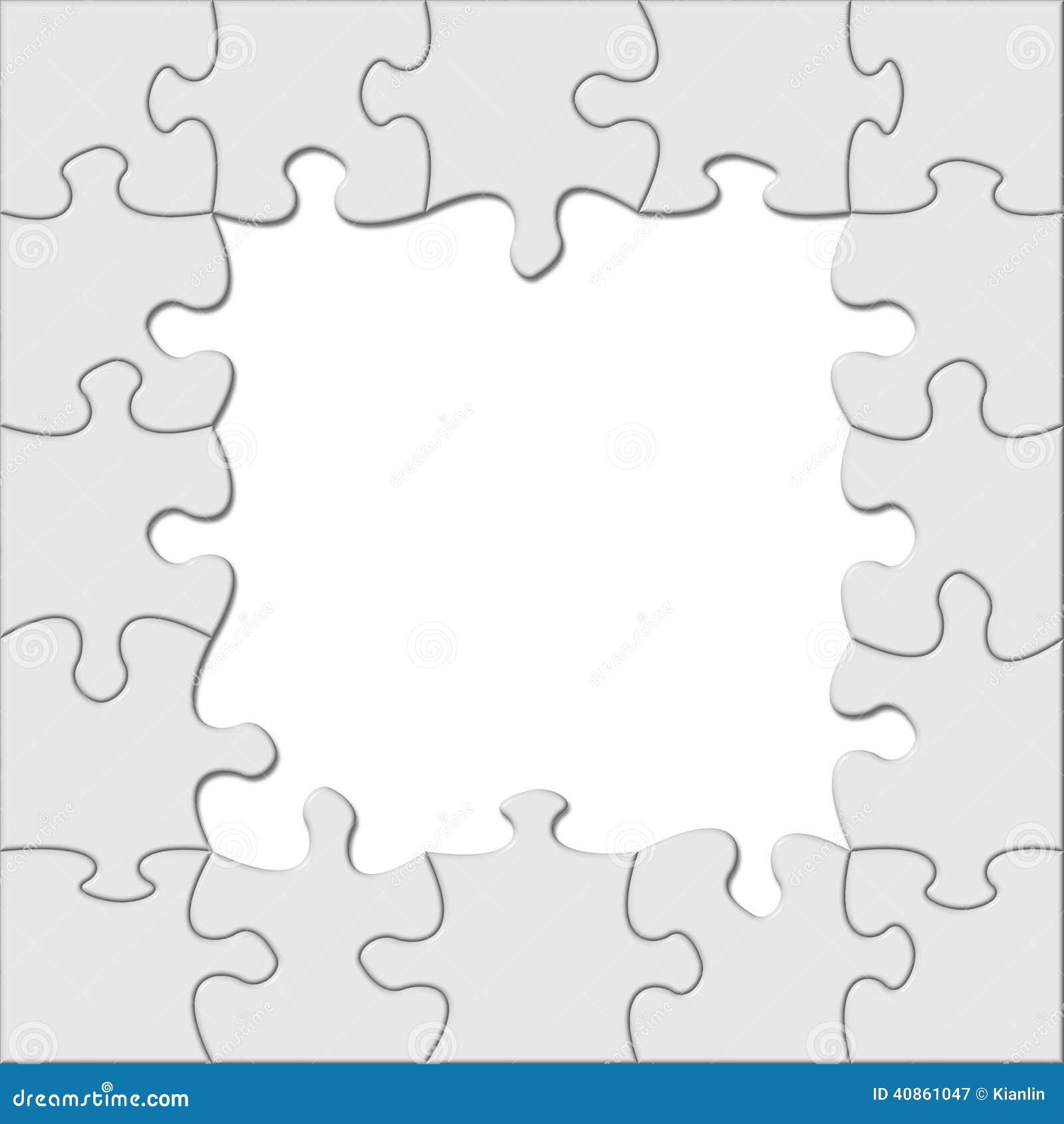 Puzzle frame stock image. Image of creativity, frame - 40861047