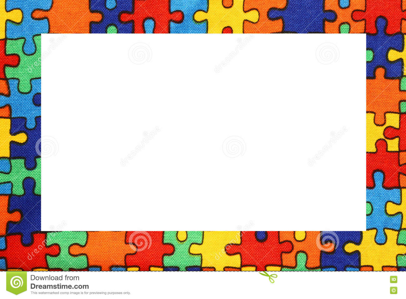 Puzzle Frame With Space To Write Your Text Stock Image Image Of