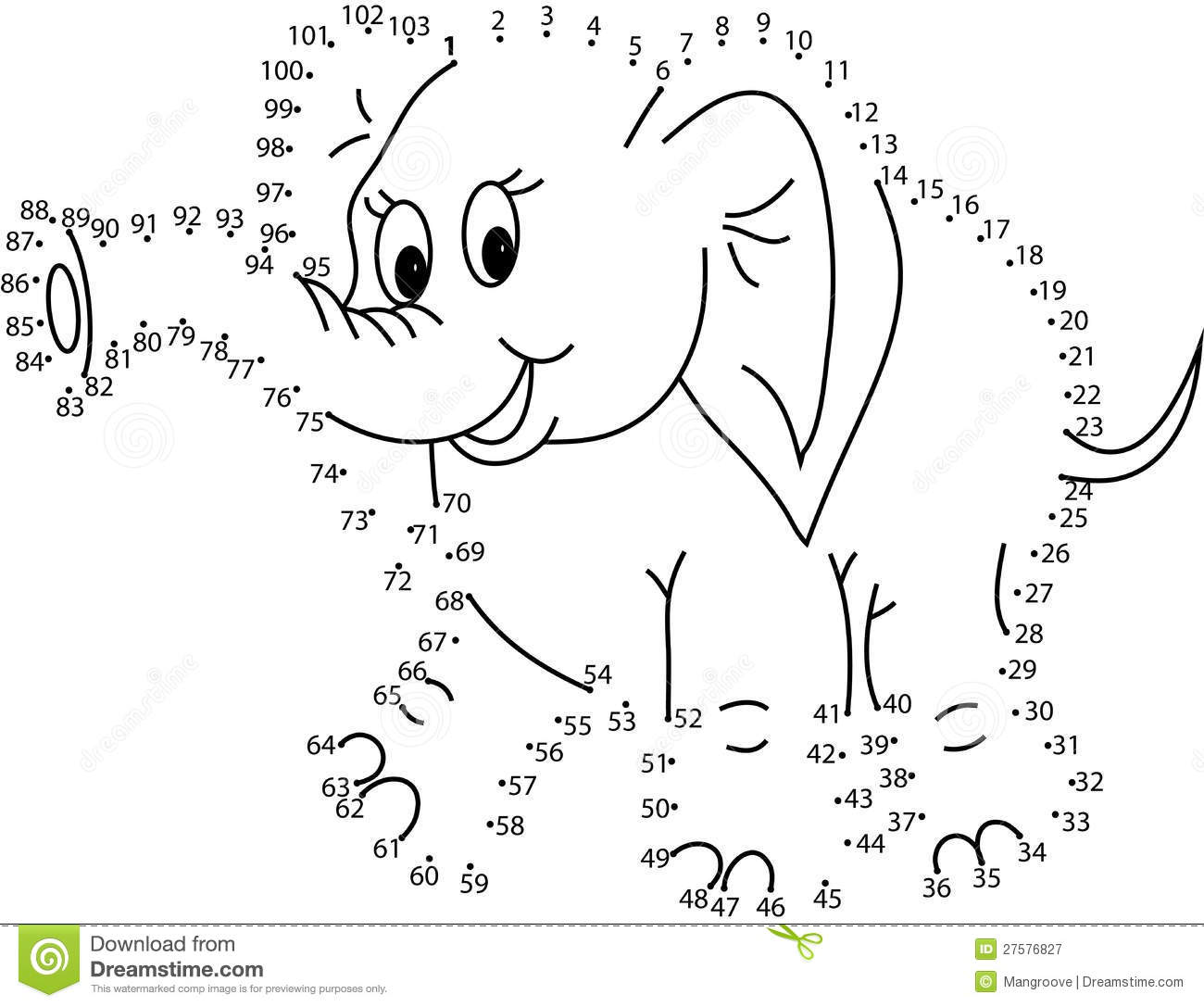 Puzzle Game For Kids Elephant Royalty Free Stock