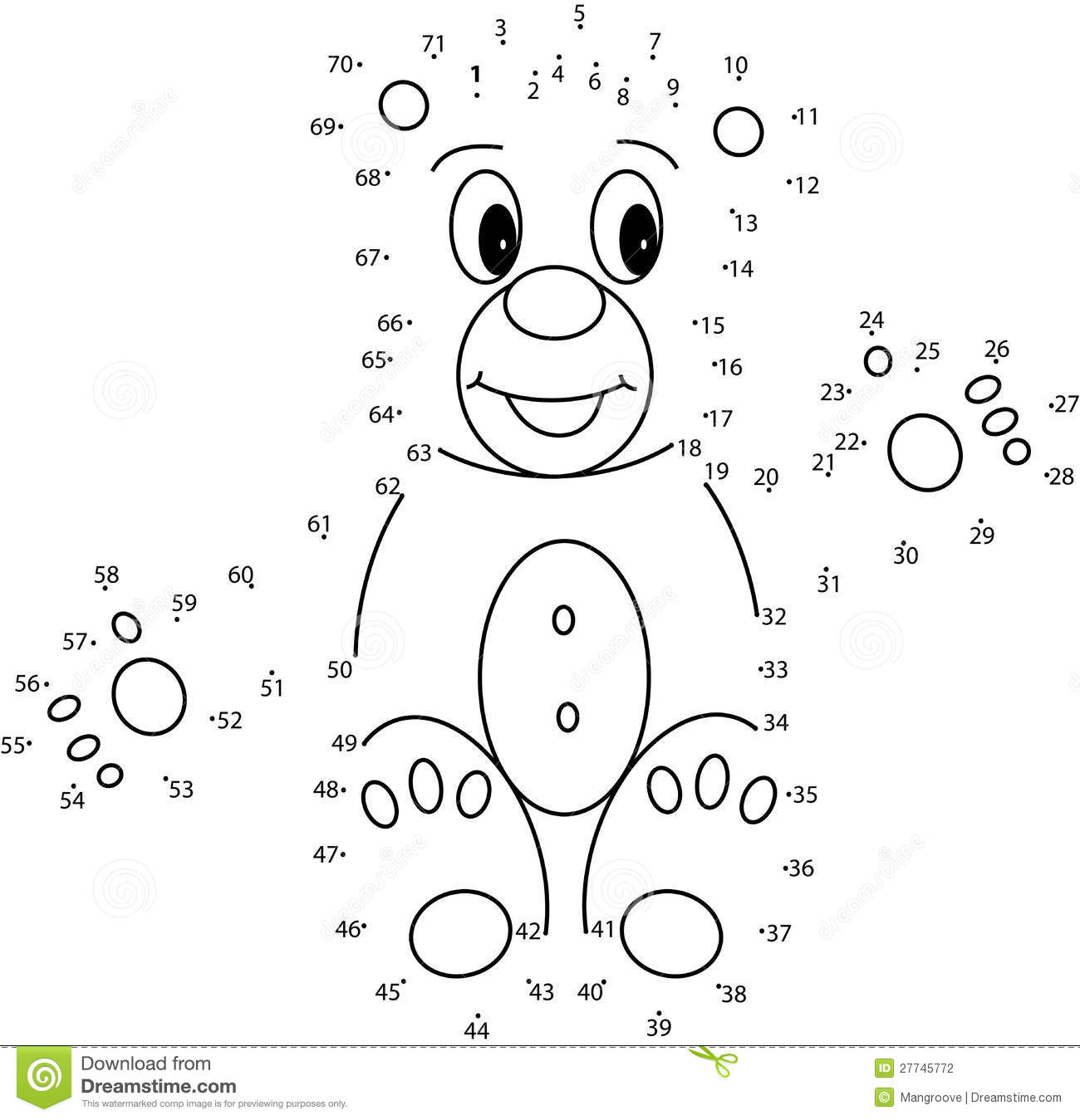 Download Puzzle Game For Kids Teddy Bear Stock Illustration