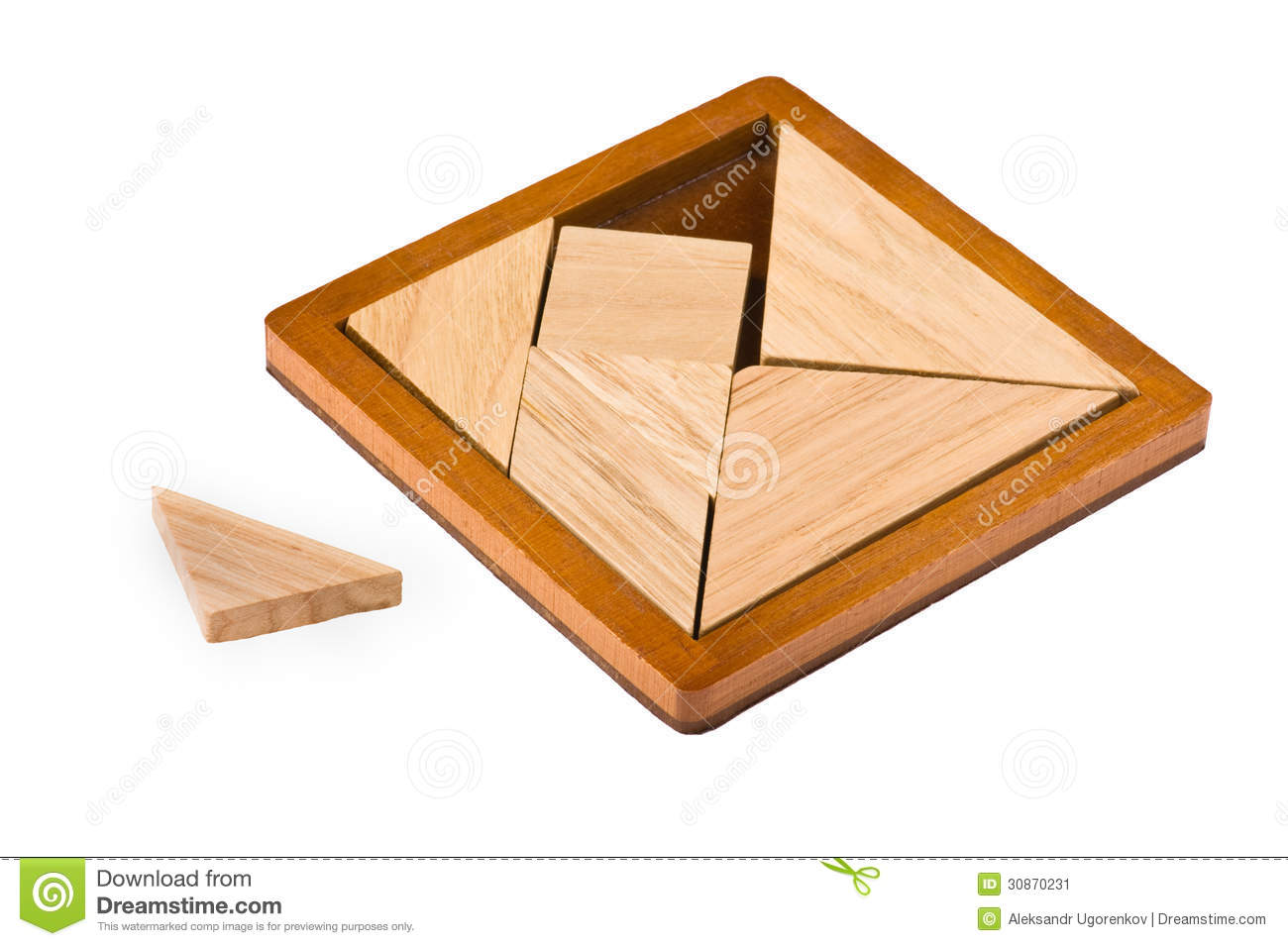 Puzzle With Geometric Shapes Stock Image Image Of Element