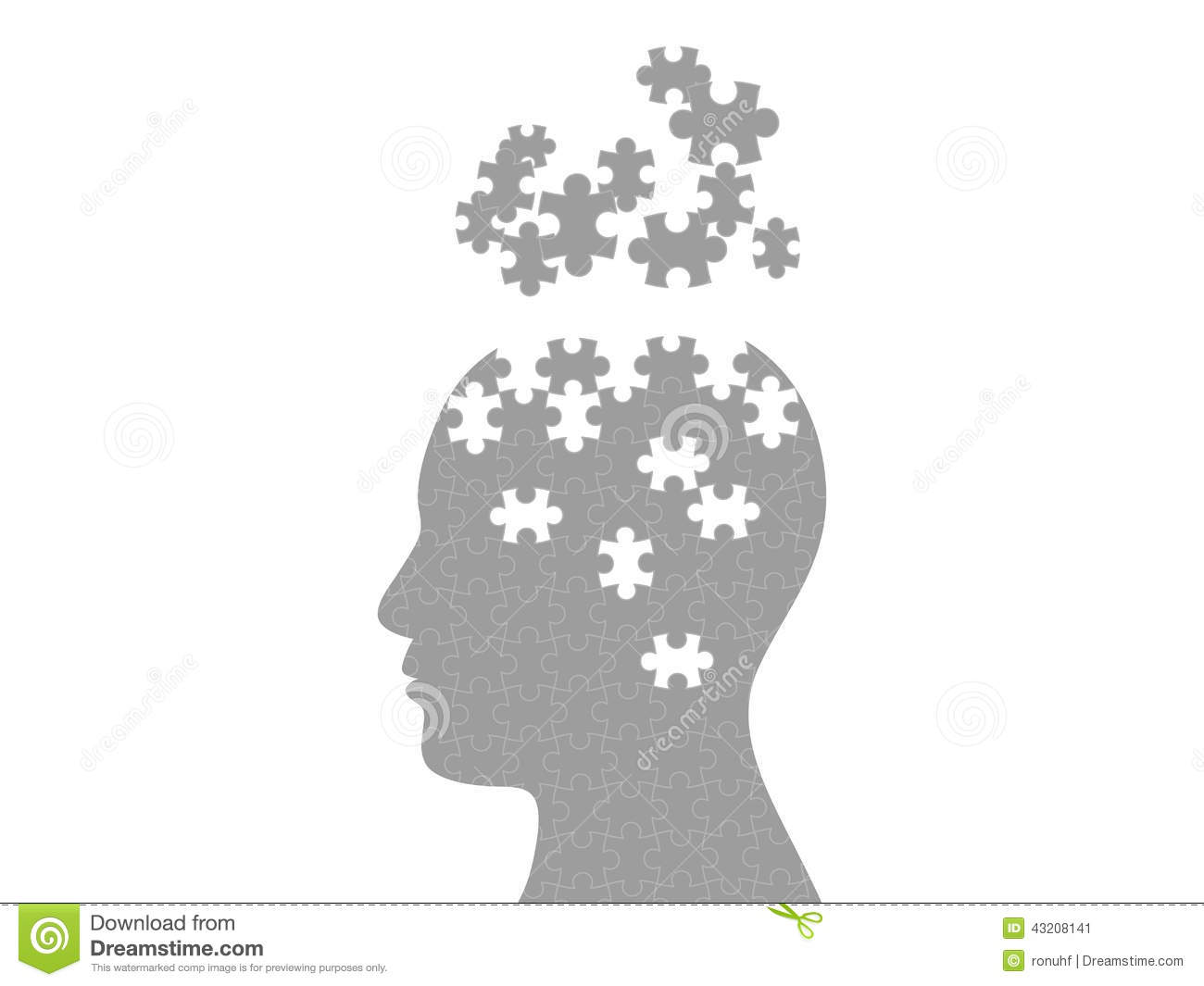 Puzzle Head Exploding Mind Graphic Template Stock Vector ...