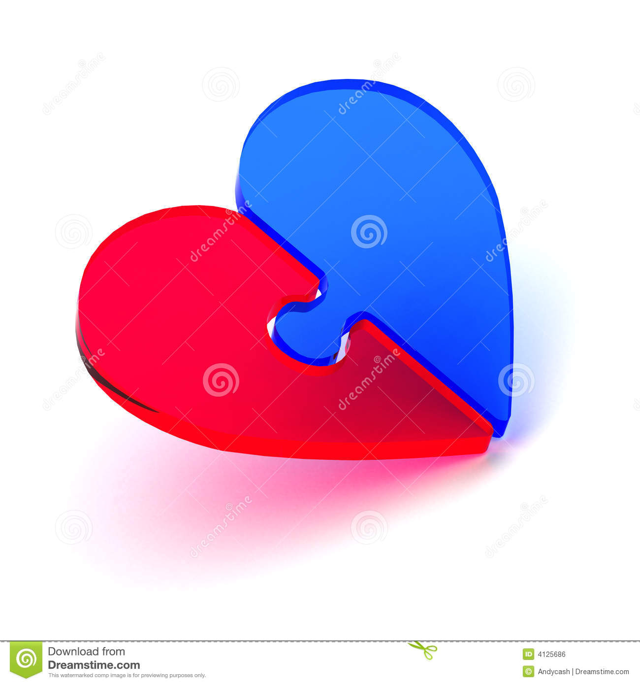 Puzzle Heart Royalty Free Stock Image Image 4125686