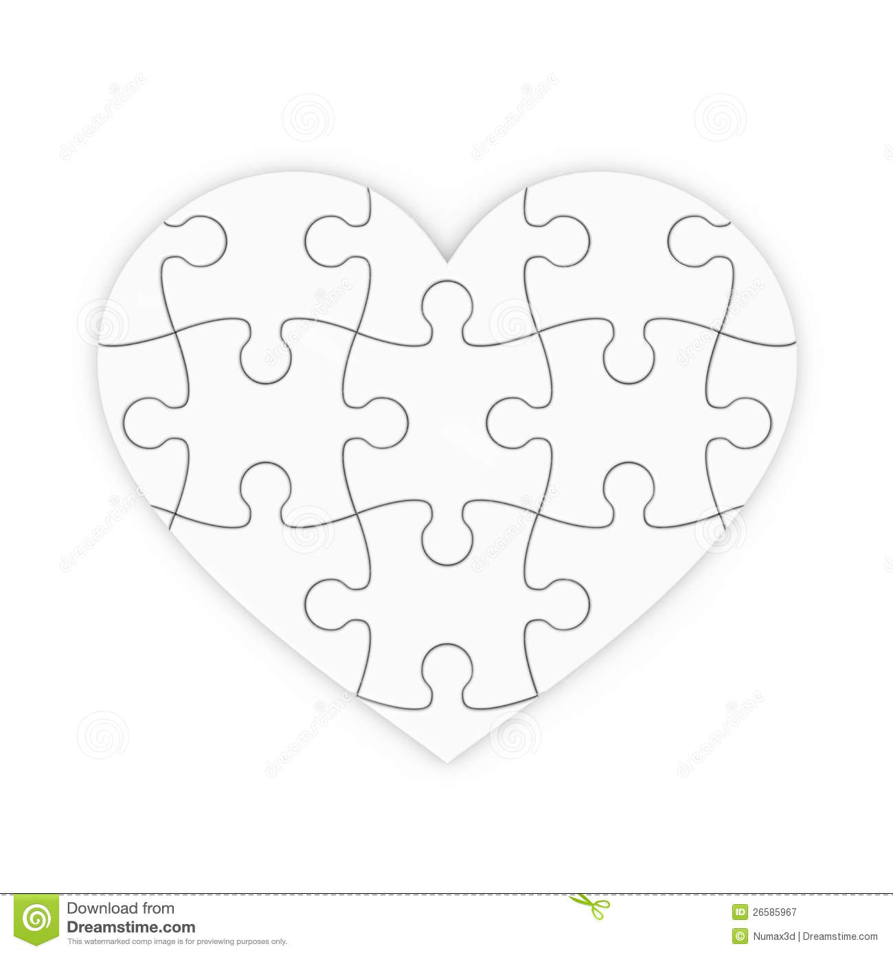 6 puzzle pieces template
