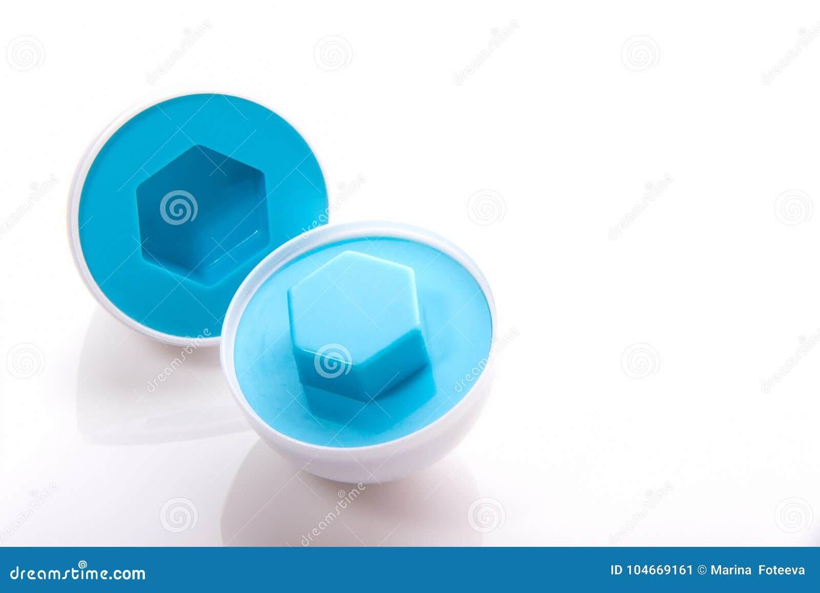 Inerente Ideal puzzle inerente allo sviluppo dell'uovo di plastica di colore blu