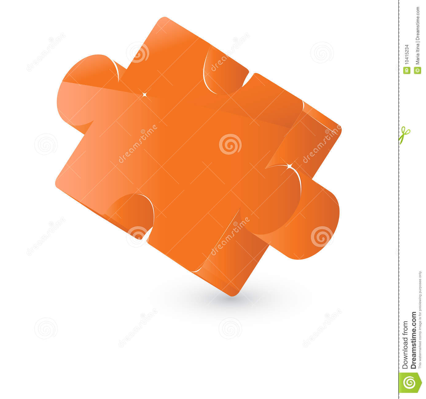 Puzzle jigsaw element stock vector. Illustration of ...