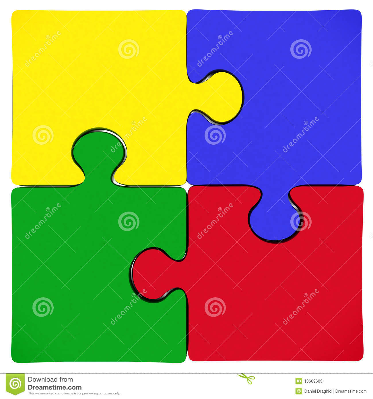 Puzzle Jigsaw Pieces Stock Illustration Of Green