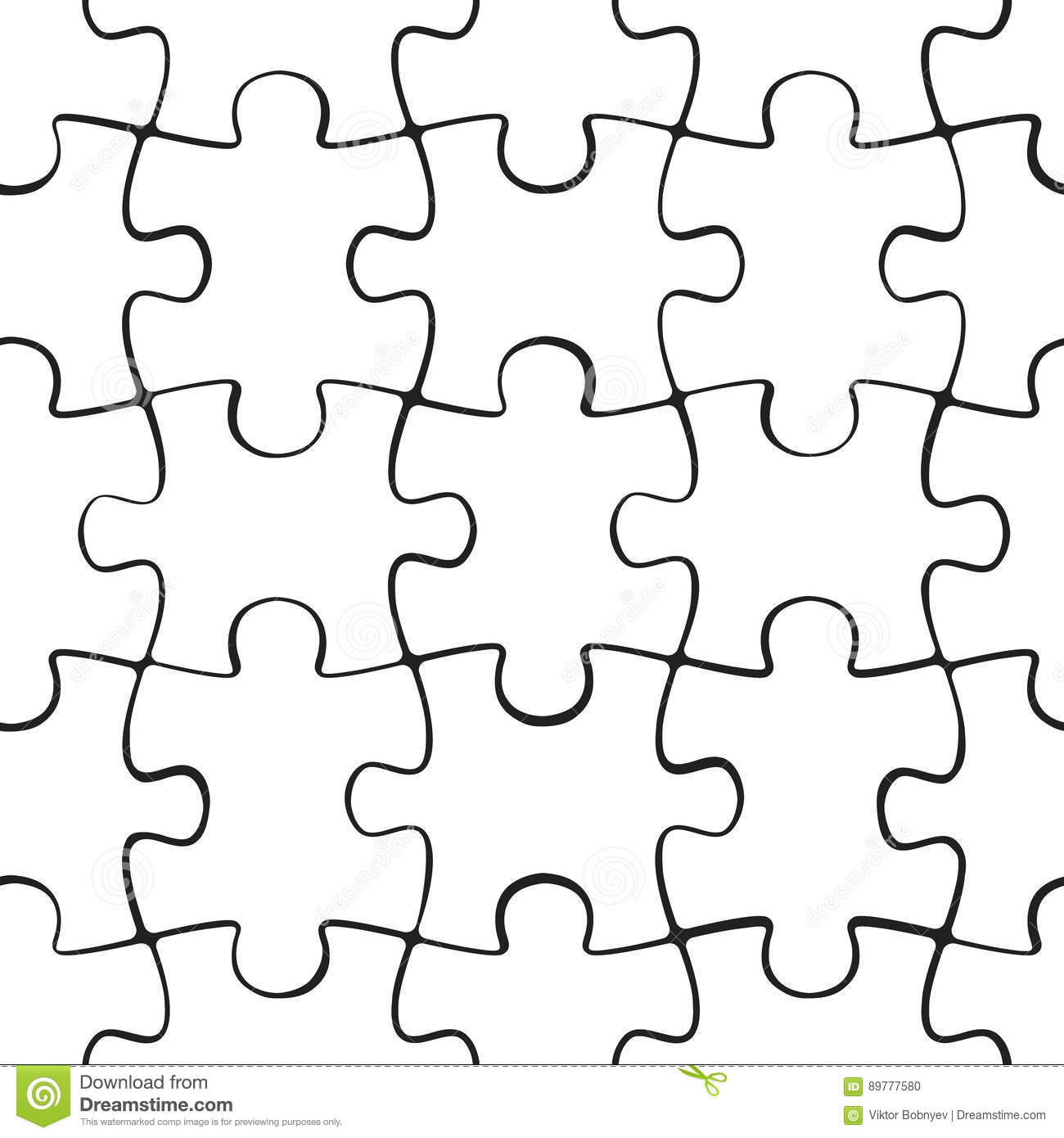 Puzzle Jigsaw Seamless Pattern Stock Vector Illustration Of Puzzle