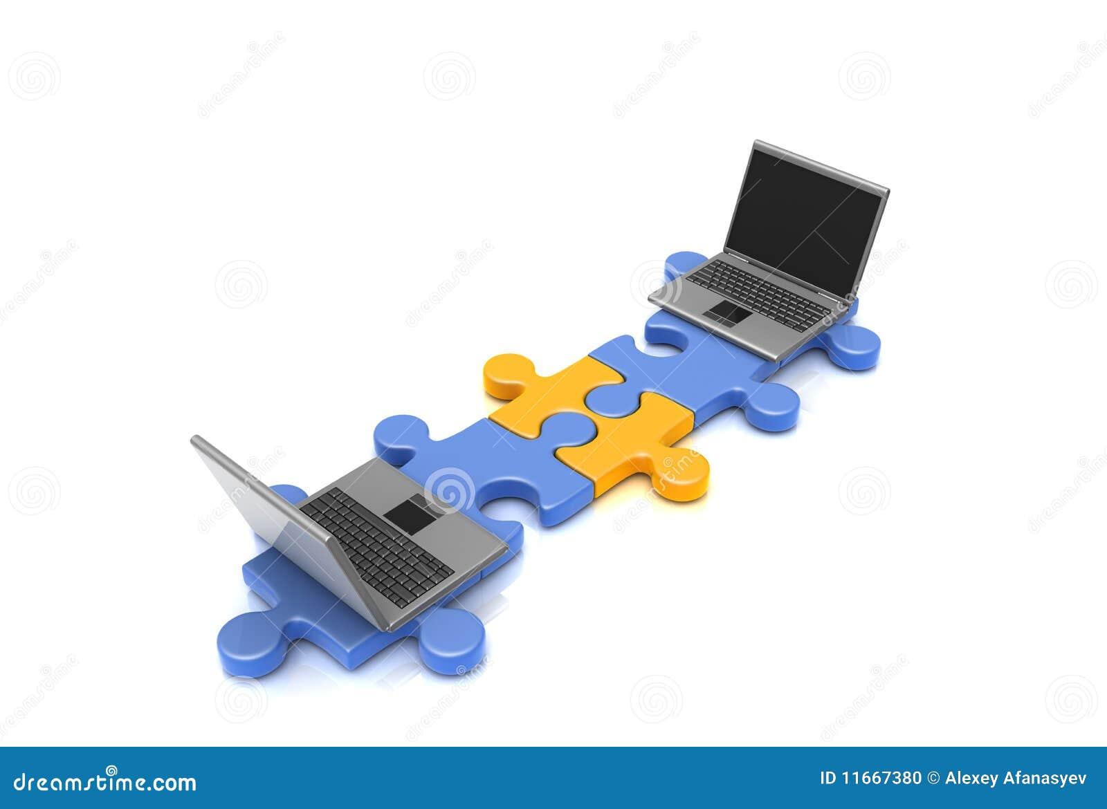 Puzzle laptop fotografia stock immagine 11667380 - Collegamento stampabile un puzzle pix ...