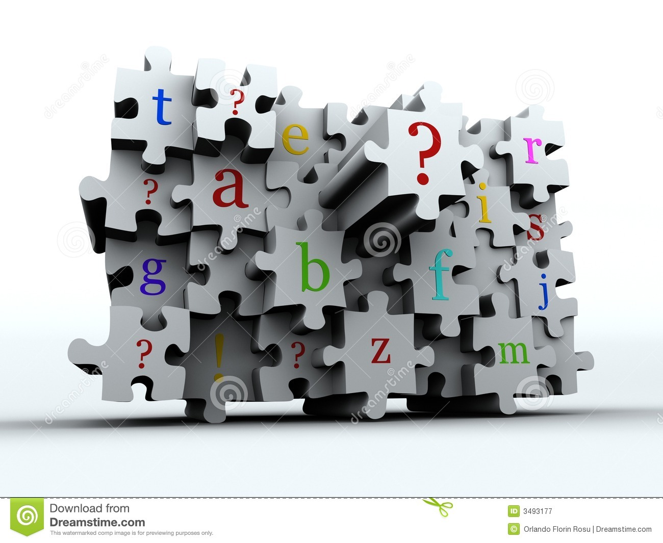 Puzzle Latters Royalty Free Stock Photography - Image: 3493177