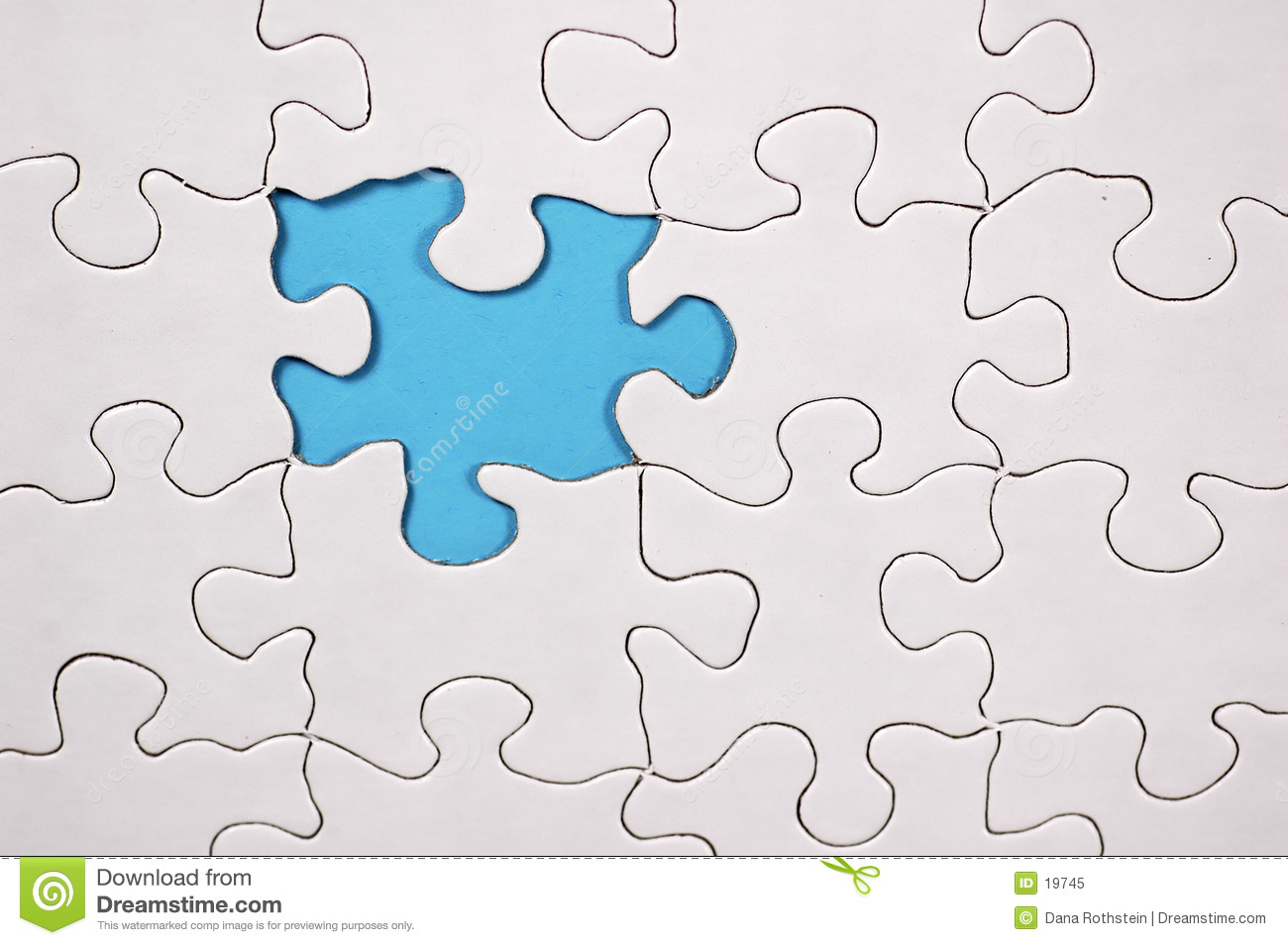 Puzzle With Light Blue Background