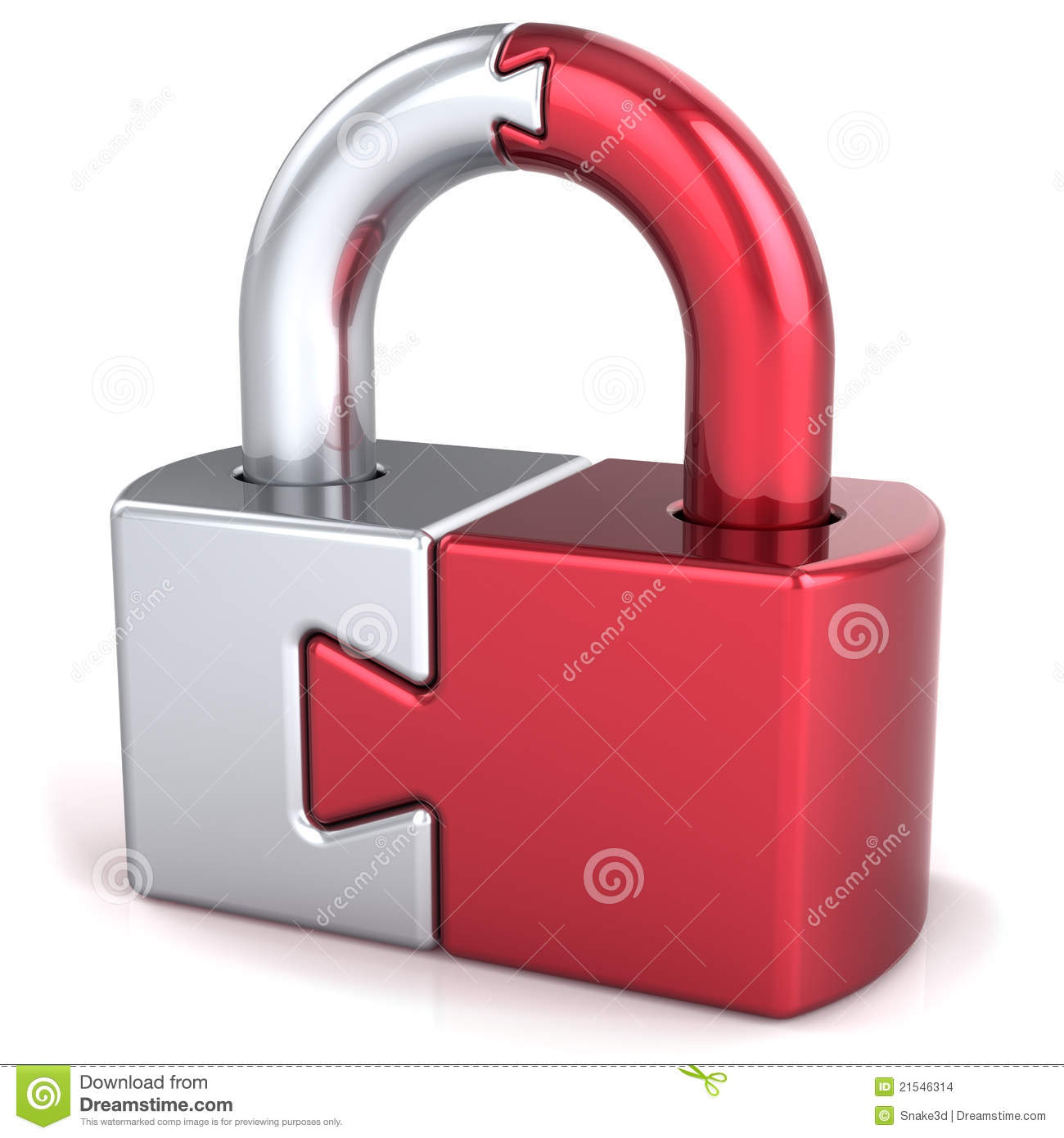 Puzzle Lock Padlock Security Concept Stock Images - Image ...