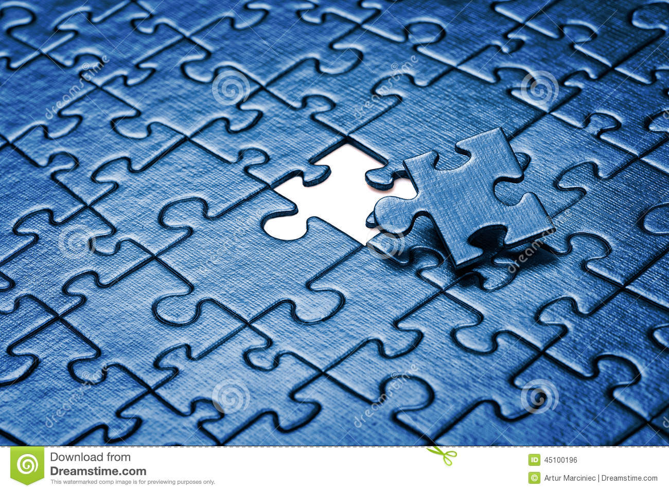 Puzzle With Missing Piece Game Idea
