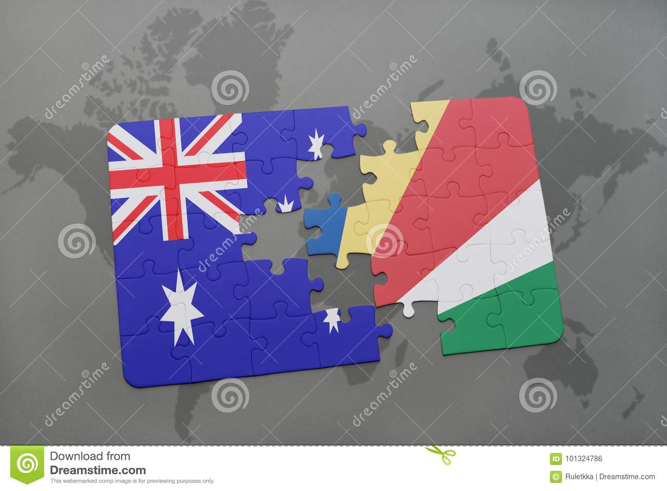 Puzzle with the national flag of australia and seychelles on a world download comp gumiabroncs Images