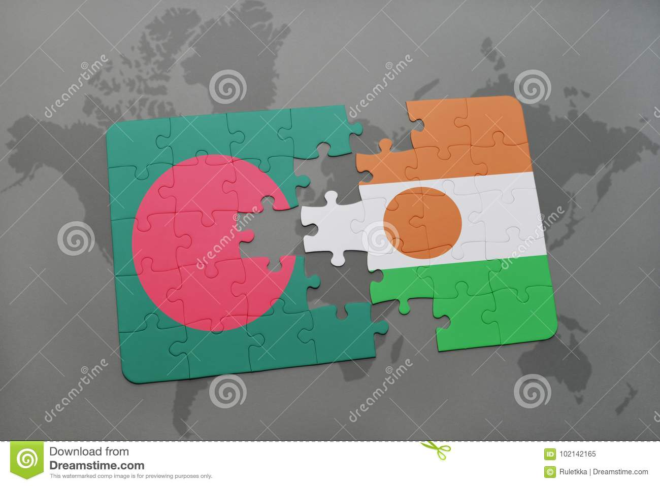 Puzzle with the national flag of bangladesh and niger on a world map download comp gumiabroncs Choice Image