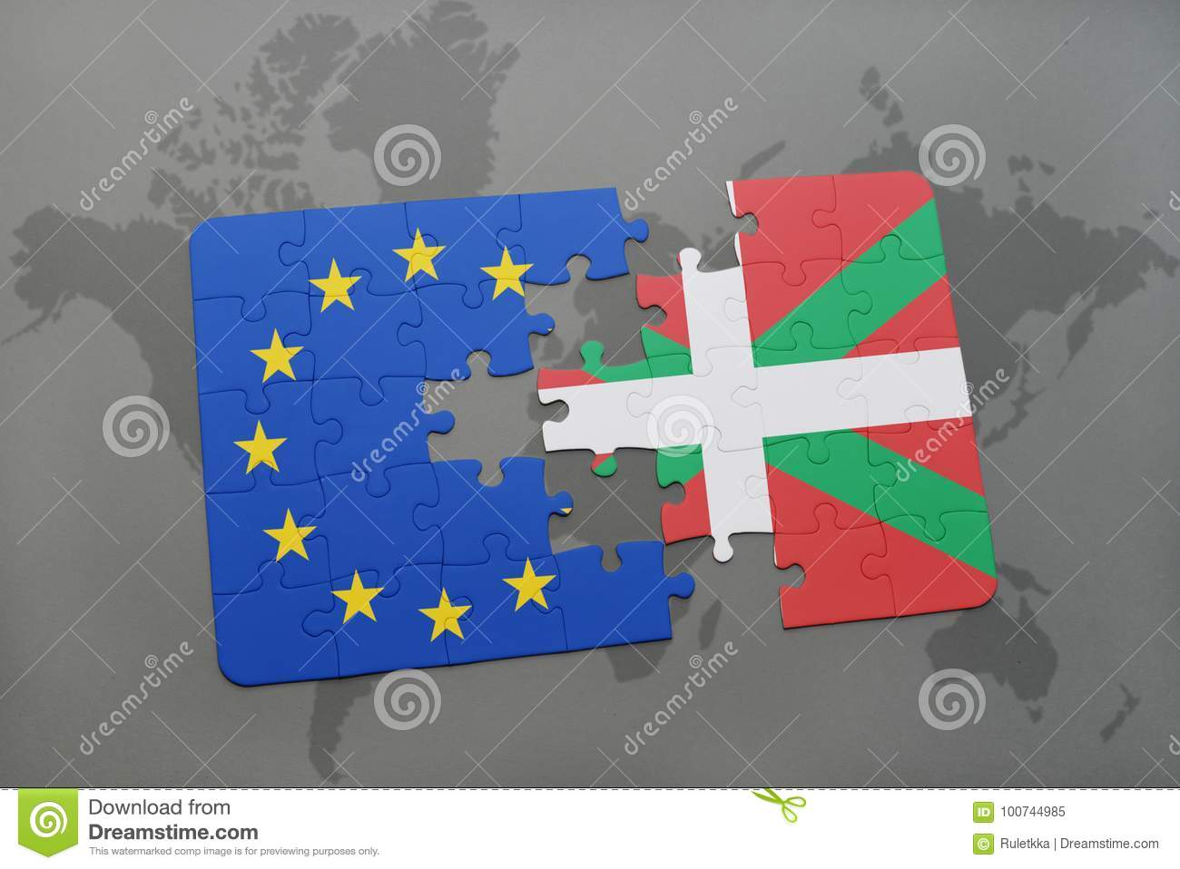 Puzzle with the national flag of basque country and european union download comp gumiabroncs Images