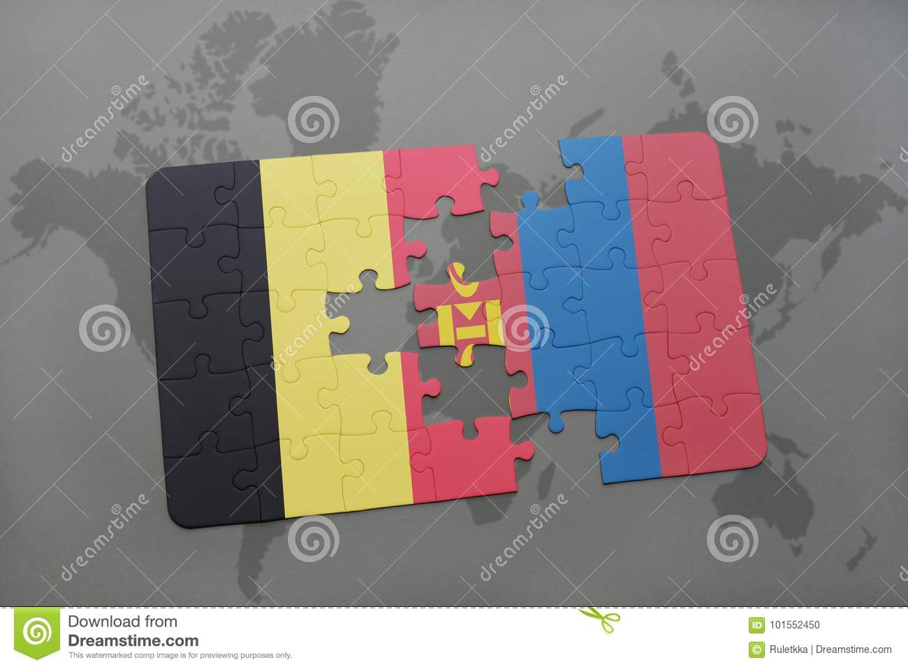 Puzzle with the national flag of belgium and mongolia on a world map puzzle with the national flag of belgium and mongolia on a world map background stock photo image of gray flag 101552450 gumiabroncs Choice Image