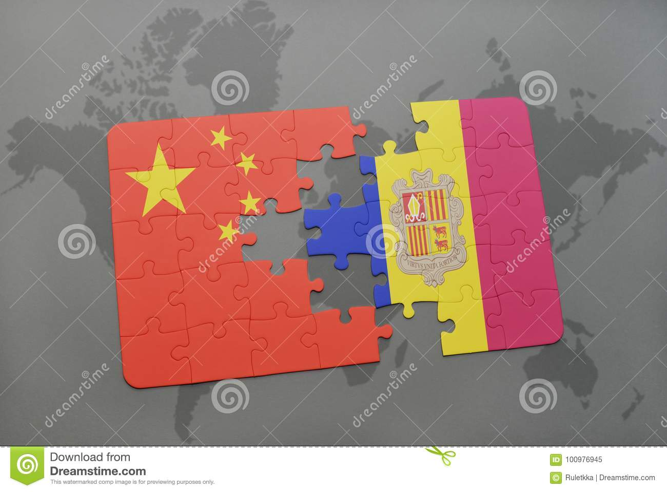Puzzle with the national flag of china and andorra on a world map download comp gumiabroncs Images